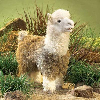 Alpaca puppet by Folkmanis 1