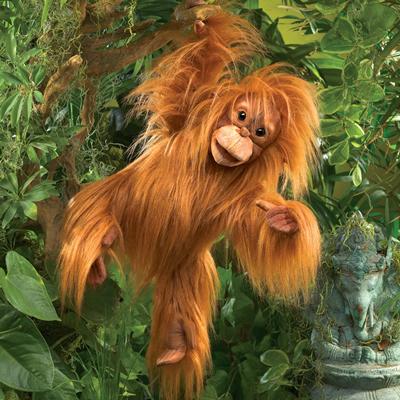 Orangutan Baby puppet 1