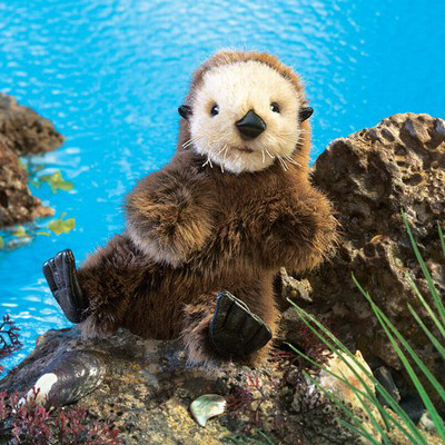 Baby Sea Otter puppet by Folkmanis 1