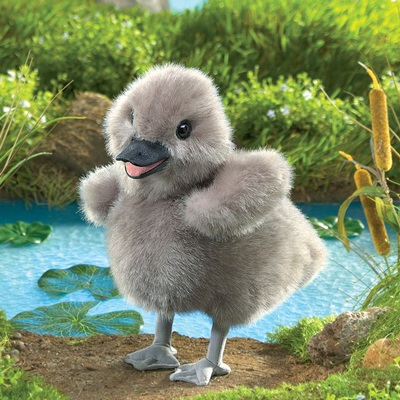 Baby Swan Puppet by Folkmanis 1