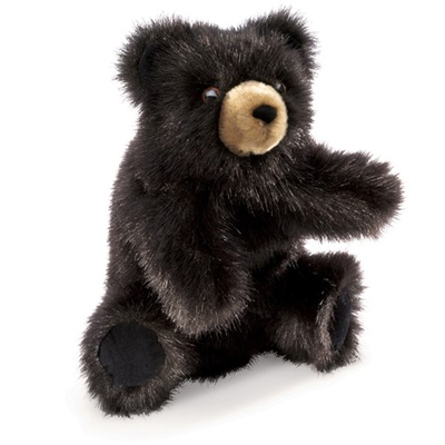 Baby Black Bear Puppet 1