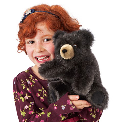 Baby Black Bear Puppet 2