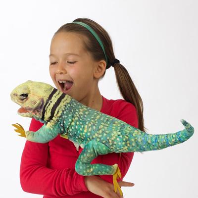Collared Lizard puppet 2