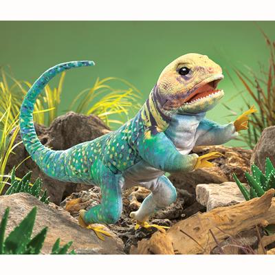 Collared Lizard puppet 1