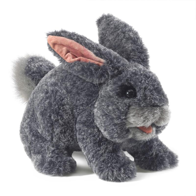 Gray Bunny Rabbit puppet by Folkmanis 1