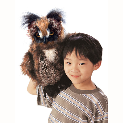 Great Horned Owl puppet 2