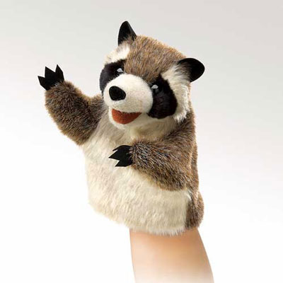Little Raccoon puppet by Folkmanis 1