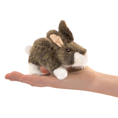 Mini Cottontail Rabbit puppet 1