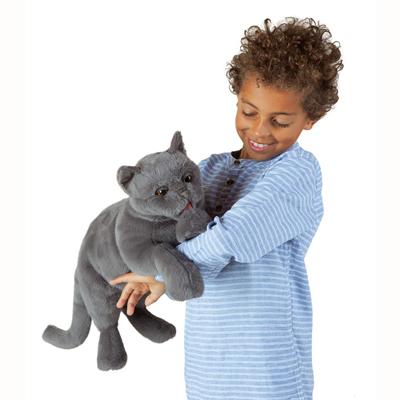 Purring Cat puppet 3