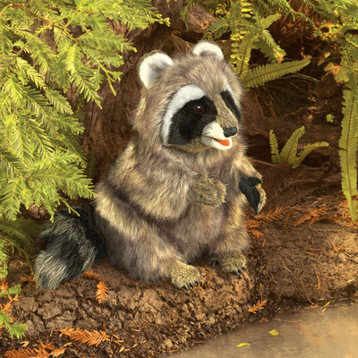 Raccoon hand puppet by Folkmanis 1