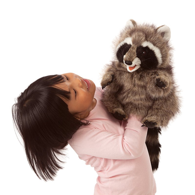 Raccoon hand puppet by Folkmanis 2