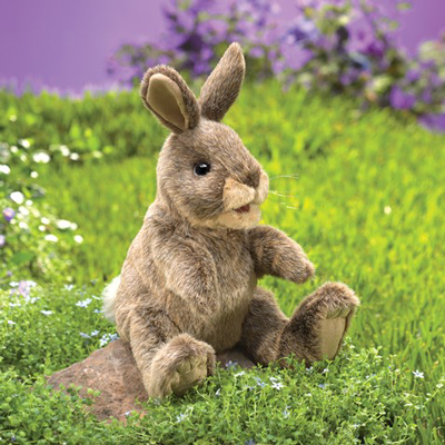 Small Cottontail Rabbit Puppet 1