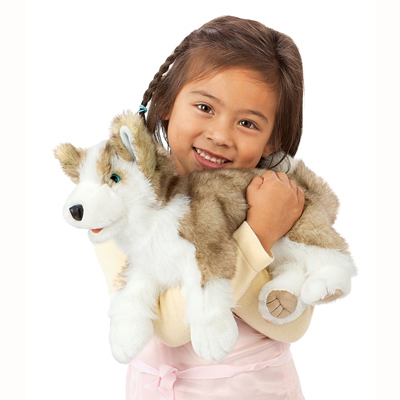Wolf Pup Puppet 3