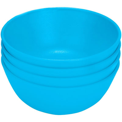 Green Eats Snack Bowl (4 Pack) Blue