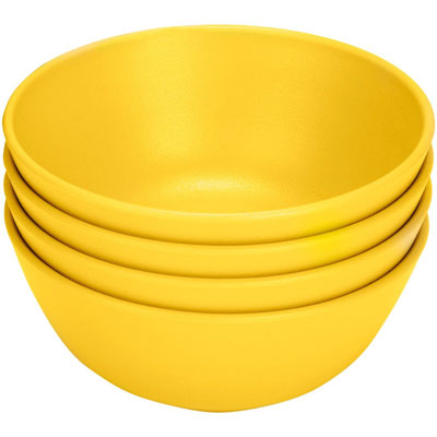 Green Eats Snack Bowl (4 Pack) Yellow