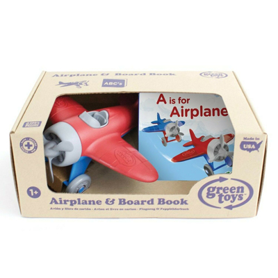 Airplane and board book set by Green Toys 1