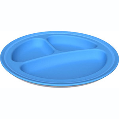 Green Eats Blue Divided Plate (2 pack)