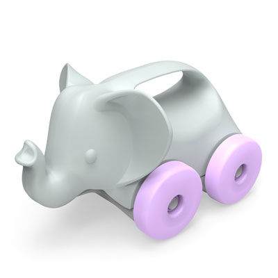 Elephant on wheels push toy by Green Toys 1