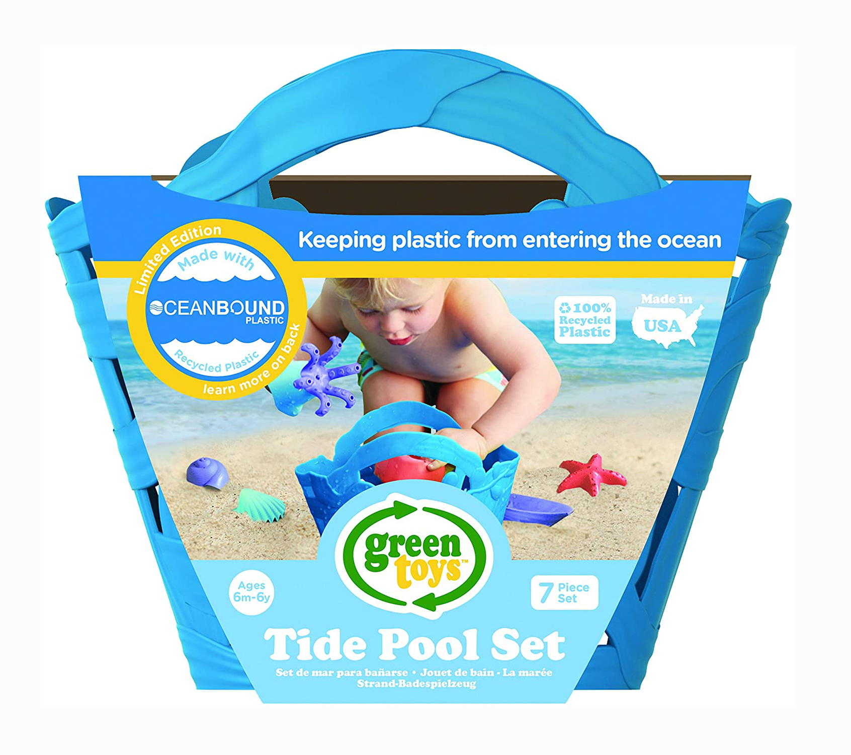 Oceanbound Plastic Tide Pool Set by Green Toys 1
