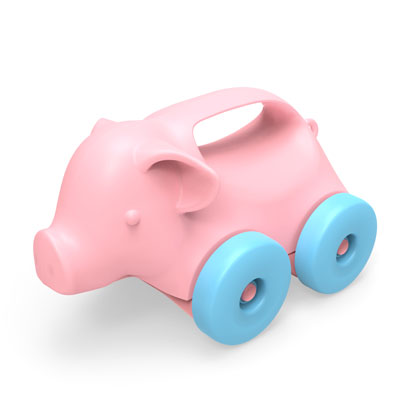 Pig on wheels push toy by Green Toys 1