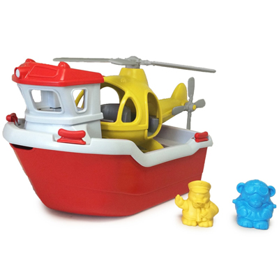 Rescue boat and helicopter by Green Toys 3