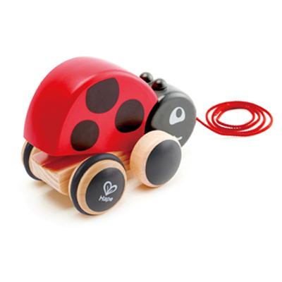 Ladybug pull along toy 1