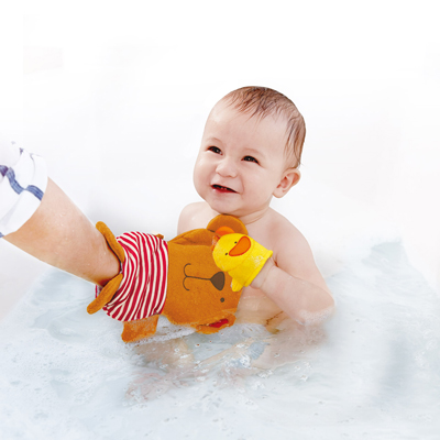 Teddy and Duck Bath Mitt Set 2