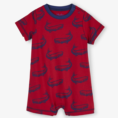 Whale pod baby romper - 6-9 months 1