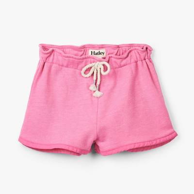 Pink french terry shorts - 8 1