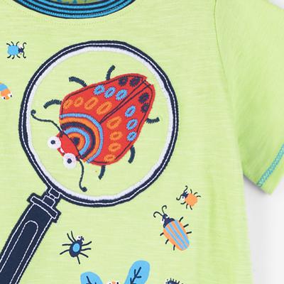 Bugology embroidered shirt - 6-9 months 2