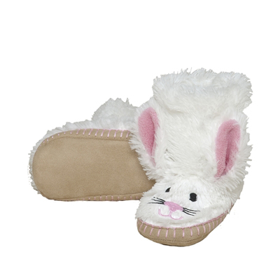 Hatley White Bunny slippers 1