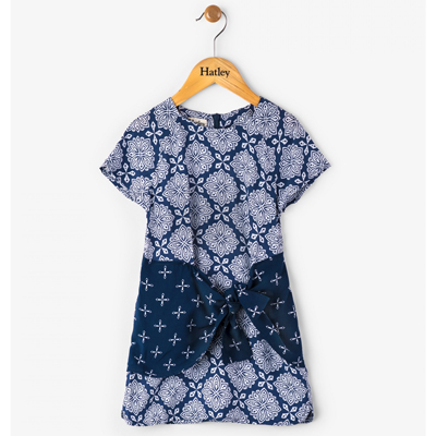 Blue compass tie dress 1