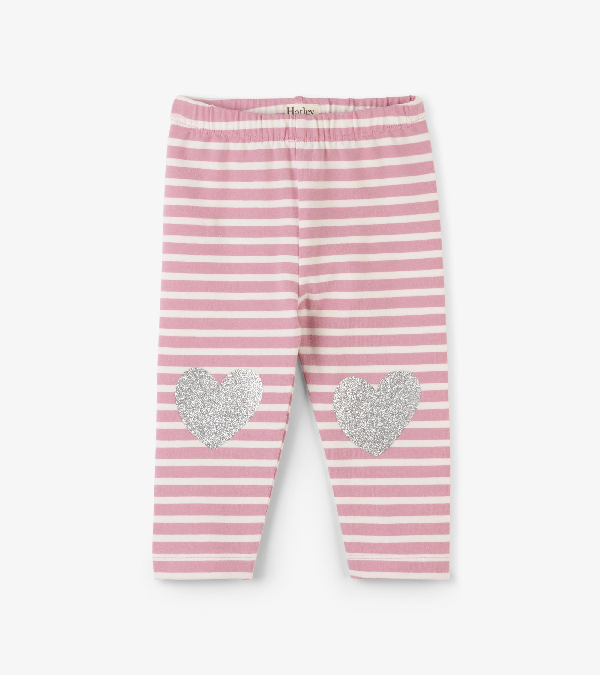 Light pink stripe leggings - 3-6 months 1