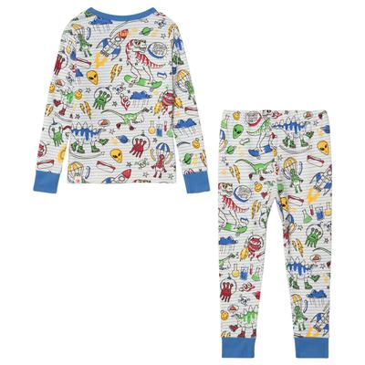 Dino and Aliens organic pajamas 1