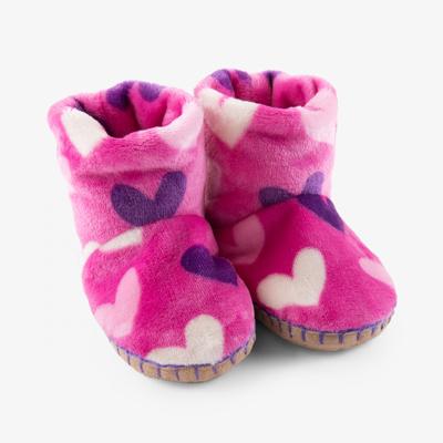 Heart fleece slippers 1