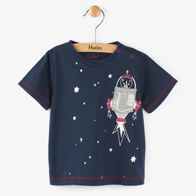 Space Dog applique tee 1
