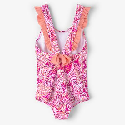 Pink St Barts Ruffle Swimsuit  - 2 2
