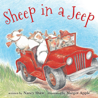 Sheep in a Jeep lap board book 1