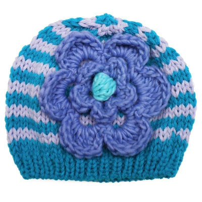 Capri Ziggy Flower beanie (2-6 years) 1