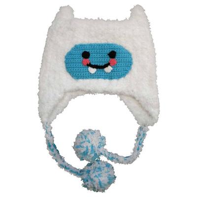 Fluffy white Yeti hat 2