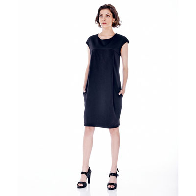 Julianna black maternity dress 1