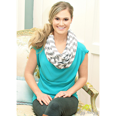 Infinity breastfeeding scarf (Gray chevron) 2