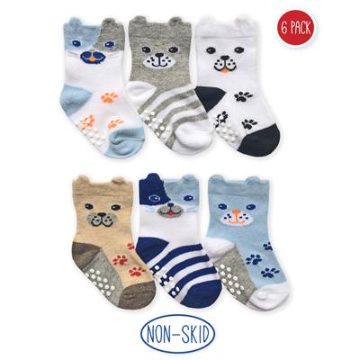 Baby Non-Skid Dog Socks (6 pairs) 1