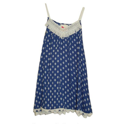 Blue print camisole with trim 1