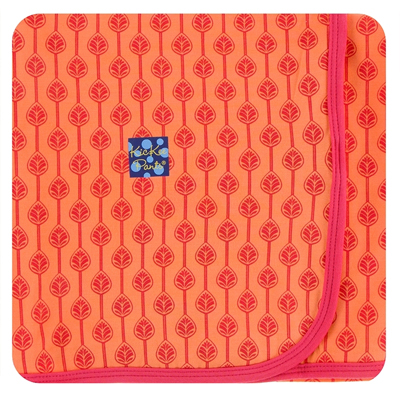 Print Swaddling Blanket (Nectarine Leaf Lattice) 1