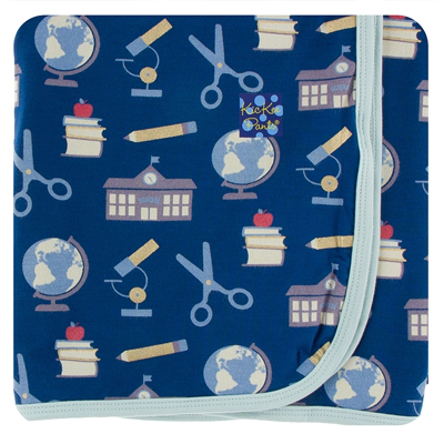 Navy Education Bamboo Swaddling Blanket 1
