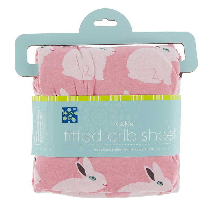Strawberry Forest Rabbit Fitted Crib Sheet ( One Size) 1