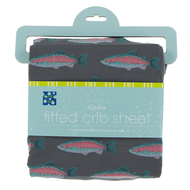 Stone Rainbow Trout Fitted Crib Sheet ( One Size) 1