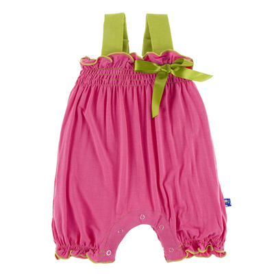 Flamingo with meadow gathered romper 1