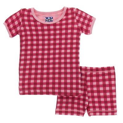 Flag Red Gingham SS Pajama Set with Shorts  - 6 1